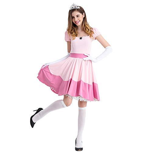 thematys® Super Mario Princesa Peach Vestir - Conjunto de...