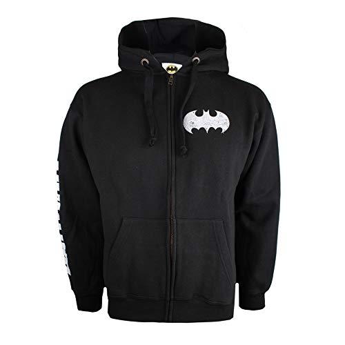 DC Comics Batman Logo Capucha, Negro (Black Blk), Large para...