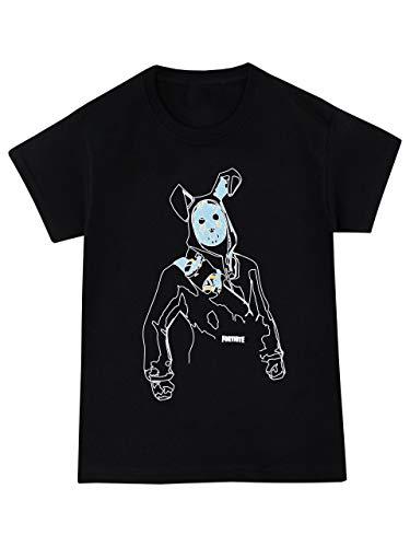 Fortnite Camiseta de Manga Corta para Niños Negro 14-15...