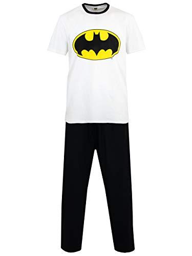 Batman Pijamas para Hombre DC Comics Blanco X-Large