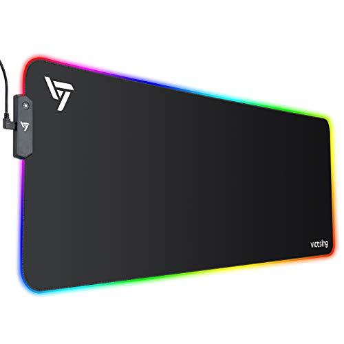 VicTsing Alfombrilla de ratónRGB, (800 × 300 × 4 mm), 8...