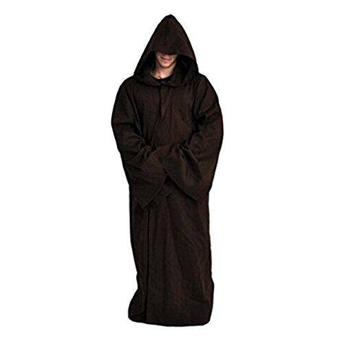 Daiendi, disfraz de Jedi Kenobi de Star Wars, capa de adulto...