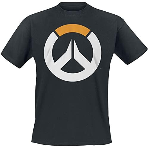 Overwatch Logo Hombre Camiseta Negro M, 100% algodón,...