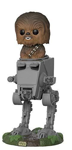 Funko- Pop Deluxe: Star Wars: AT-ST w/Chewbacca, Multicolor,...