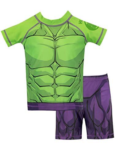 Marvel Bañador de Dos Piezas para niño El Increíble Hulk...