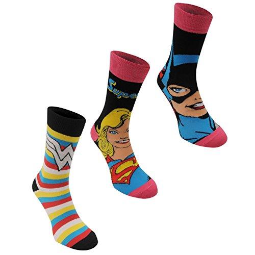 3 pares de calcetines con diseños de superhéroes de...