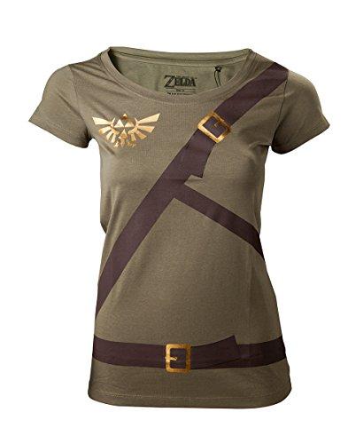 The Legend of Zelda - Camiseta Link Belt para Mujer - Maat S