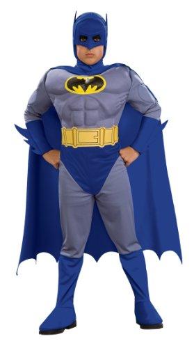 Disfraz de Batman musculoso para niño Tamaño Pequeño 3-4...