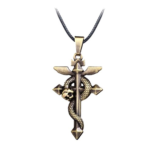 Touirch Collar con colgante de cruz de Alquimista de Anime...