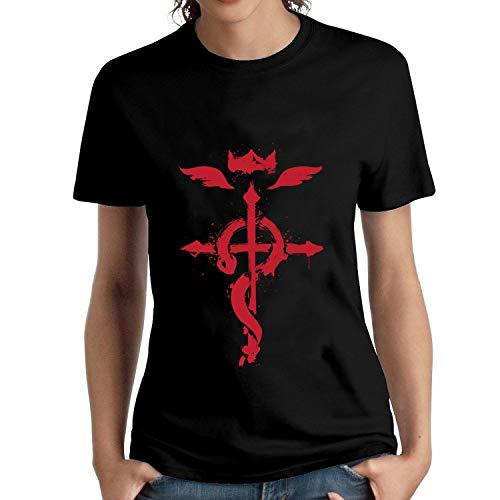 HAIZHENY Mujer Fullmetal Alchemist Logo Cotton...