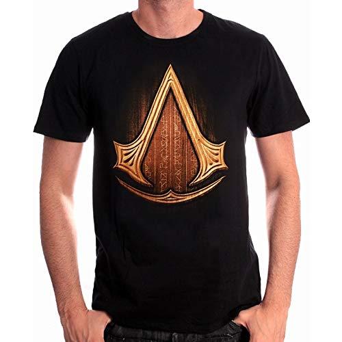 Assassins Creed Insignia Wood camiseta negro de algodón - M