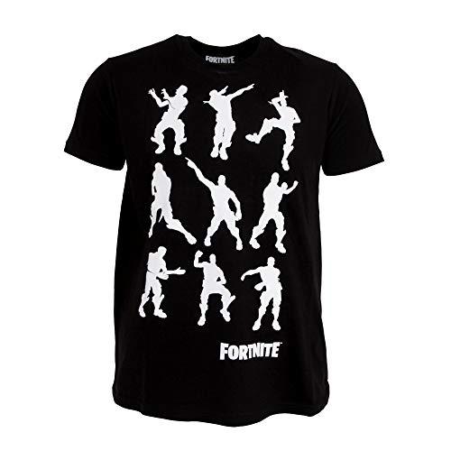 Fortnite - Camiseta Infantil con Bailes (7/8 Años) (Negro)