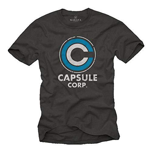 MAKAYA Camiseta para Hombre - Capsule Corp Goku Anime Dragon...