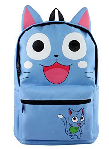 WANHONGYUE Fairy Tail Happy Anime Orejas Lindas Mochila...