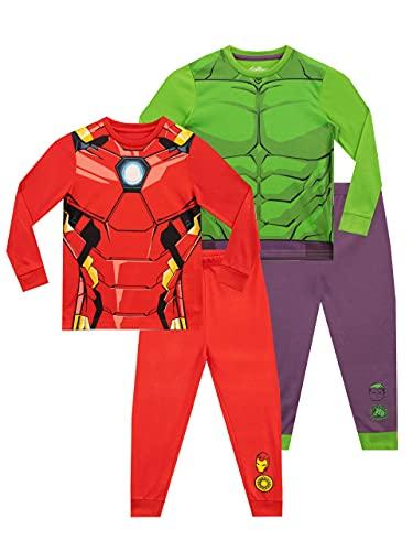 Marvel Pijamas para Niños Paquete de 2 Avengers Multicolor...
