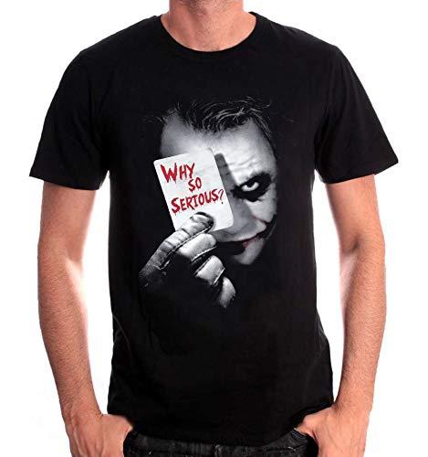 cotton division Joker Why So Serious Camiseta, Negro, XL...