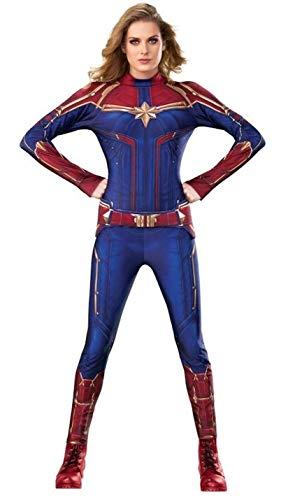 Rubies - Disfraz Oficial del Capitán Marvel Hero para Mujer