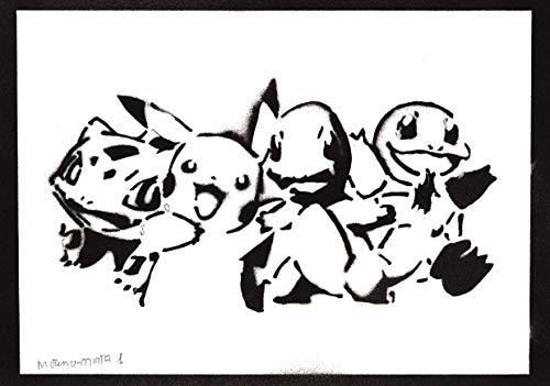 Póster Pokemon Grafiti Hecho a Mano - Handmade Street Art -...