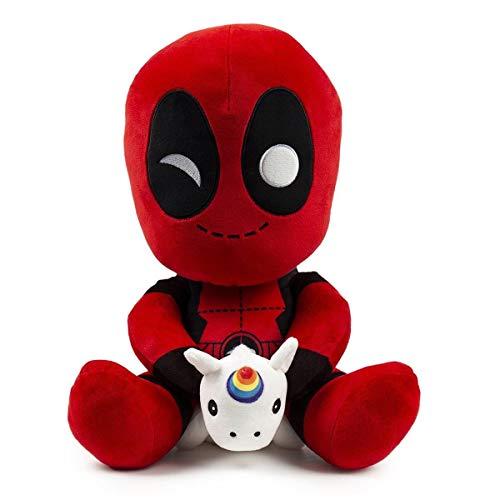 NECA- HugMe Marvel Peluche Deadpool con Unicornio,...