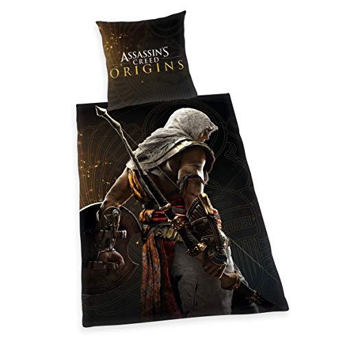 Assassin 'S Creed Ropa de Cama, Microfibra, Negro, Single