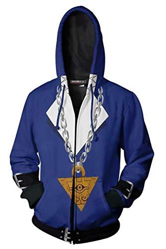 Hombre Coat para Fudo Yusei Yu-Gi-Oh! Sudadera con Capucha...