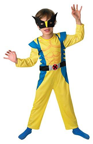 WOLVERINE - Disfraz de superhéroe para niño, talla M...