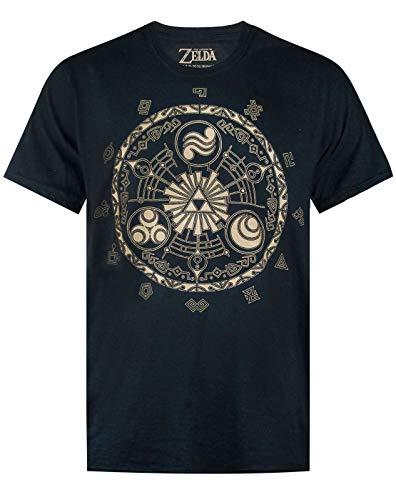 Zelda La Leyenda de la Camiseta Nintendo Gamer Runas Negro...
