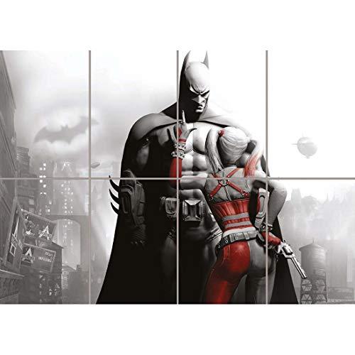 BATMAN AND HARLEY QUINN GIANT ART AFICHE CARTEL IMPRIMIR...