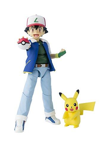 Bandai S. H. Figuarts Pokemon Ash Ketchum Pikachu ABS PVC...
