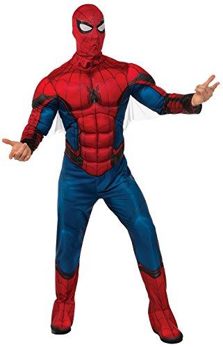 Marvel - Disfraz de Spiderman para hombre, Talla M/L adulto...