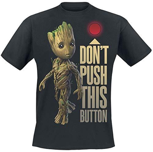 Guardianes De La Galaxia 2 - Groot - Button Hombre Camiseta...
