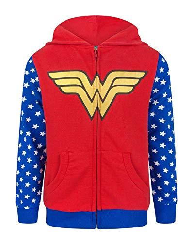 Wonder Woman Logo Girl'S Zip-Up Hoodie (13-14 Years)