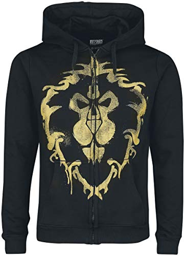 Warcraft Alliance Spray Sudadera Capucha con Cremallera...