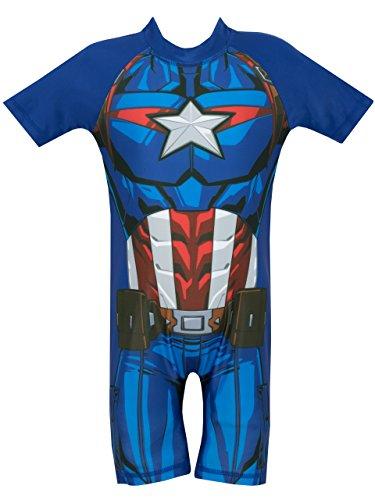 Marvel Bañador para niño Captain America Multicolor 5-6...