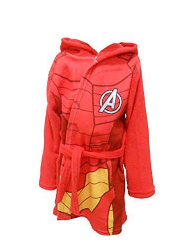 Marvel Avengers Children's Hooded Red Fleece Iron Man...