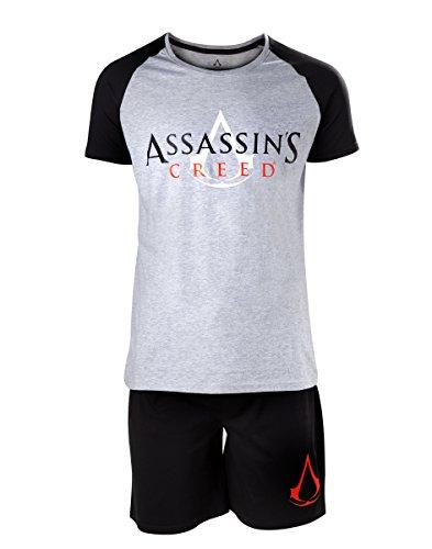 Assassin's Creed Logo Pijama negro/gris S