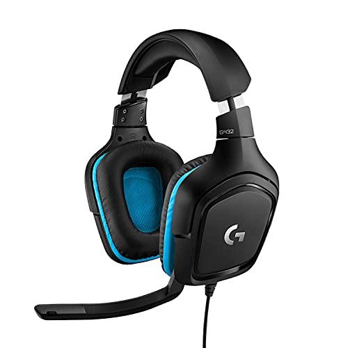 Logitech G432 Auriculares Gaming con Cable, Sonido 7.1...