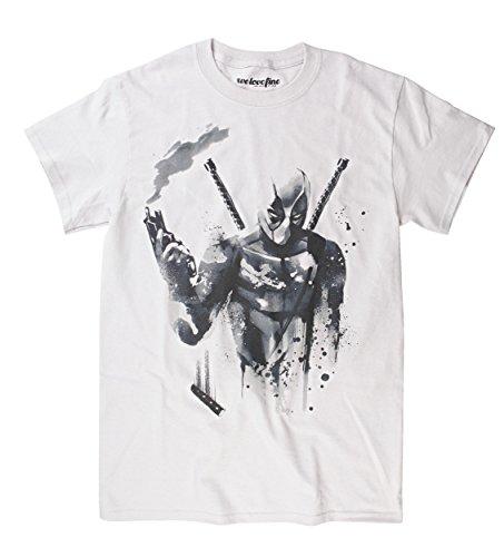 Marvel Deadpool Mercenary Sumi-E Camiseta | L