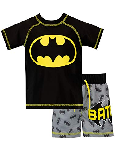 Batman Bañador de Dos Piezas para niño DC Comics Negro 4-5...
