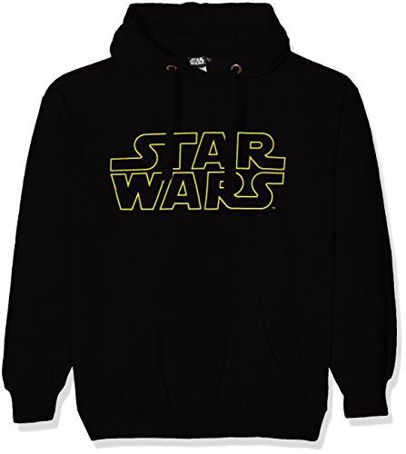 Star Wars Basic Logo Sudadera con Capucha, Negro, XL para...