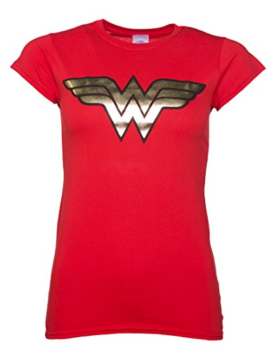 Camiseta para mujer Wonder Woman Foil DC Superhero