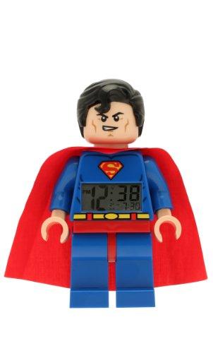 Despertador con luz infantil con figurita de Supermán de...