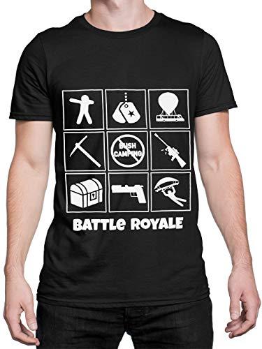 Battle Royale Camiseta para Hombre Gaming Negro Talla Small