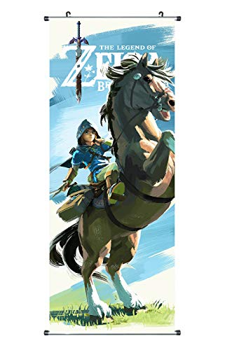 SmartKey Legend of Zelda - Cakemono de tela (100 x 40 cm),...