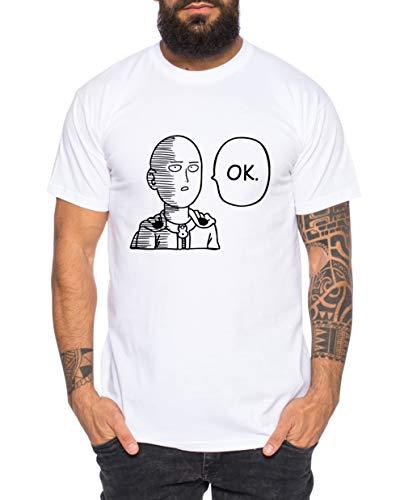 Saitama Ok Camiseta de Hombre Saitama Punch One Anime Manga,...