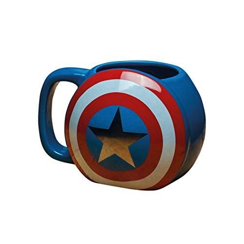 Marvel Avengers - Taza de cerámica, diseño del Capitán...
