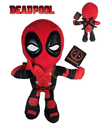 Marvel - Peluche Deadpool Postura Mano Ok 32cm Calidad Super...