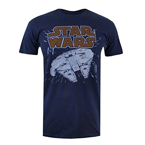 Star Wars Millenium Hyperspace Camiseta, Azul (Navy), M para...