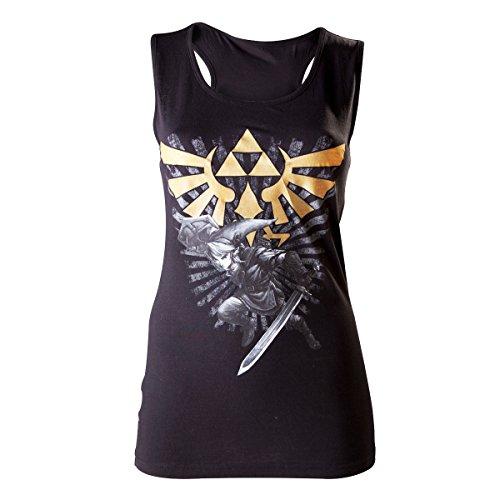 Zelda - Camiseta nadadora - Link con Master - mujer - negro...