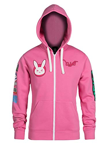 OVERWATCH D.VA NERF THIS ULTIMATE ZIP-UP HOODIE - Size L